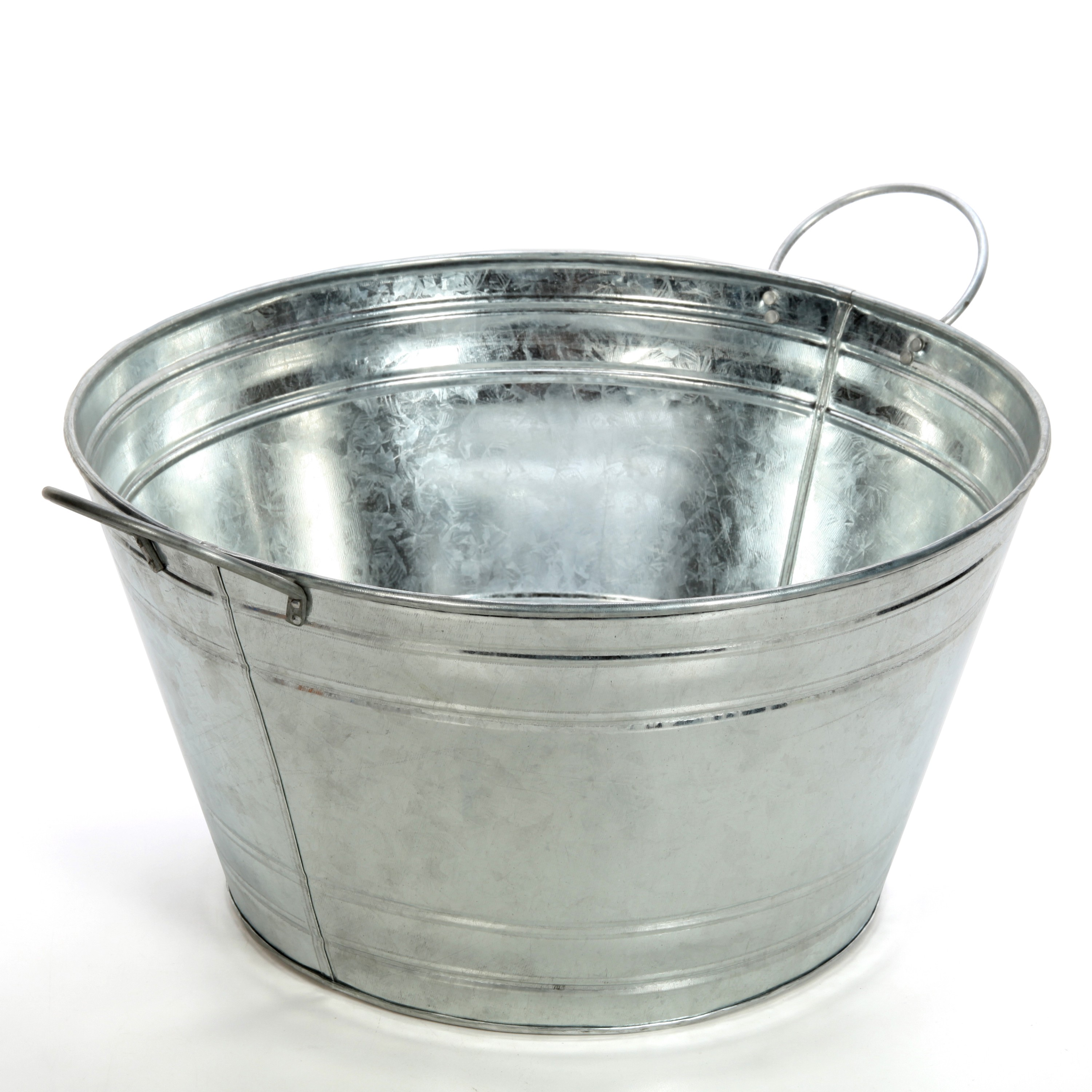 Hosley S 17 75 Inch Long Galvanized Beverage Tub With Handles