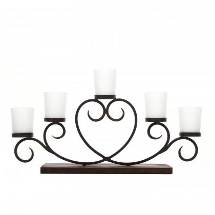 Party Ideal Gift for Wedding Serve ware O7 Pedestal Bonzai Floral arrangements Votive Candle Gardens Bowl for Orbs Hosley 11 Long Brown Ceramic Led Tea light//Pillar Candle Tray